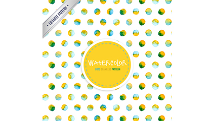 Color watercolor dotted dots seamless background vector
