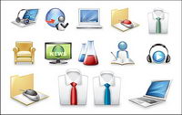Exquisite commercial icon vector material-2